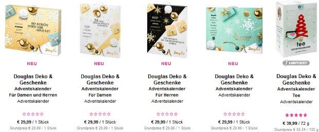 Adventskalender bei Douglas.de