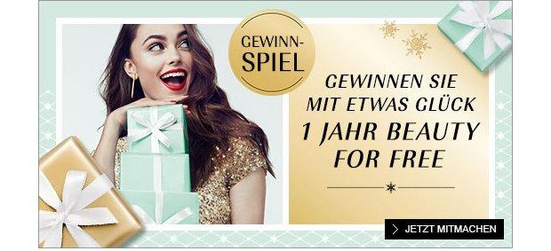 1 Jahr Beauty Shopping gewinnen auf douglas.de