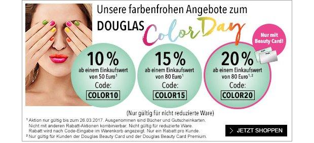 10%, 15% oder 20% Rabatt auf douglas.de
