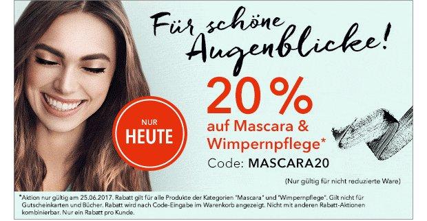 20% Rabatt auf Wimpernprodukte auf douglas.de