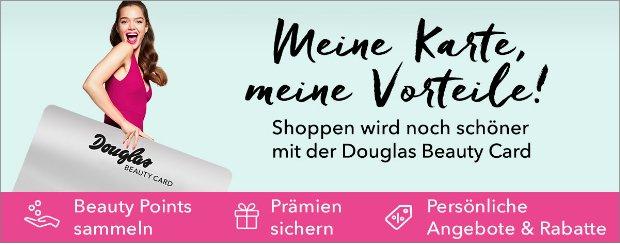 Kostenlos Beauty Card beantragen auf douglas.de