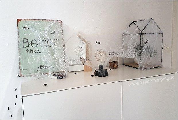 Spinnennetze an Halloween
