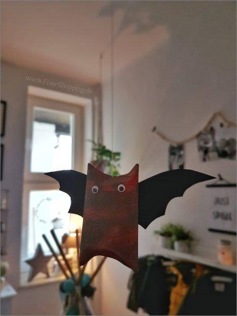 Kleine Fledermaus Deko an Halloween