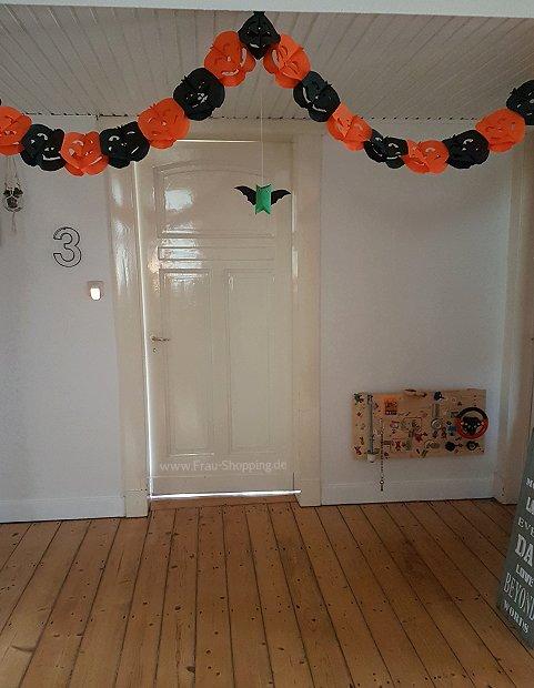 Kürbis-Girlanden als Halloween Deko