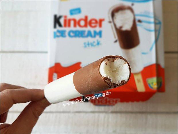 Kinderschokolade Eis Stick ausgepackt