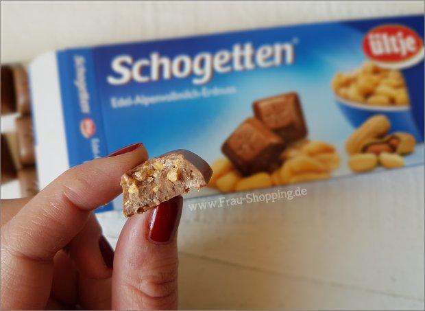 Schogetten Edel-Alpenvollmilch-Erdnuss von innen