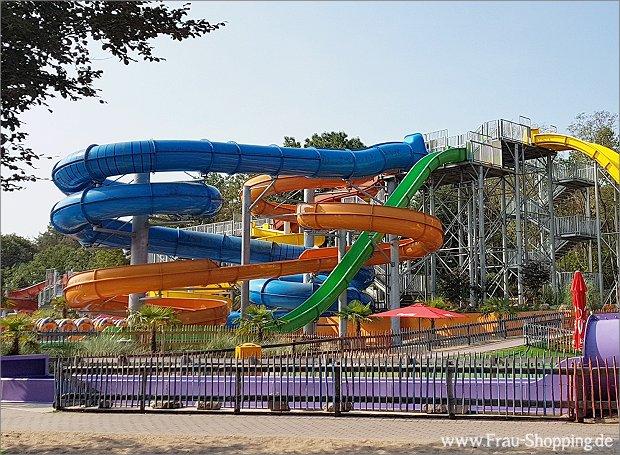 Die Wasserrutschen im Abenteuerpark Hellendoorn