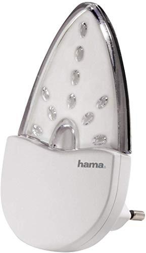 """Hama """"Bernstein"""" LED Nachtlicht für Kinderzimmer und Schlafzimmer (stromsparend, nur 0,2 W, Orientierungslicht für Gang und Keller, Stimmungslicht, Nachtlampe, Eurostecker)"""