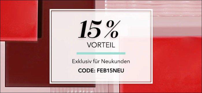 15% Rabatt für Neukunden auf douglas.de