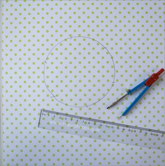 Anleitung Explosion Box mit Süßigkeiten - Kreis zeichnen