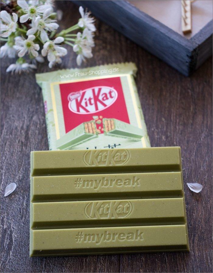 Kitkat Green Tea Matcha von innen