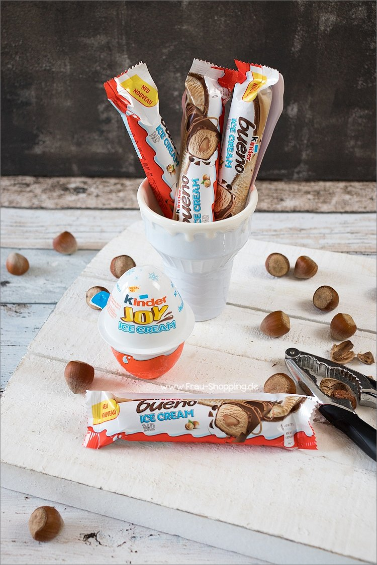 Kinder Bueno Ice Cream Bar und Kinder Joy Ice Cream