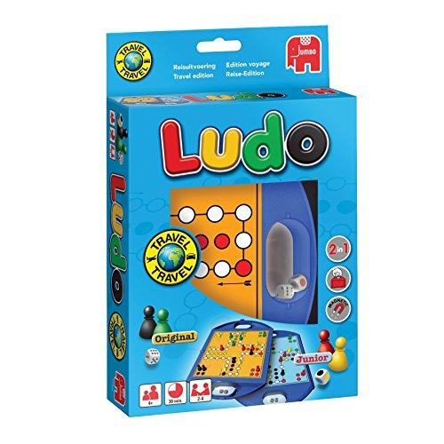 Jumbo 12768 Junior und Ludo Kompaktspiel, farbig